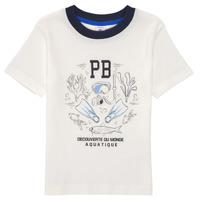 Vêtements Garçon T-shirts manches courtes Petit Bateau MARCO Blanc