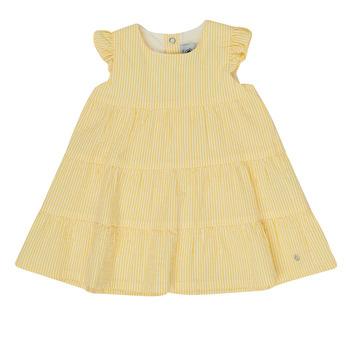 Vêtements Fille Robes courtes Petit Bateau MERINGUE Jaune