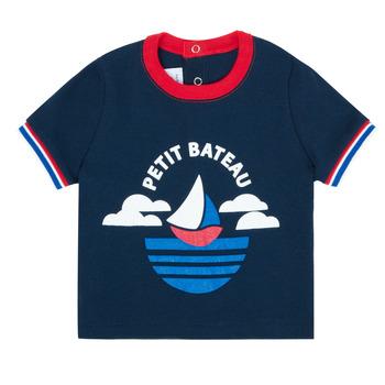 Vêtements Garçon T-shirts manches courtes Petit Bateau MENU Marine