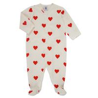 Vêtements Fille Pyjamas / Chemises de nuit Petit Bateau MESCOEURS Blanc