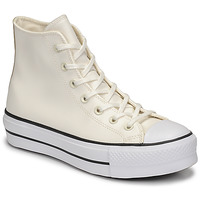 Chaussures Femme Baskets montantes Converse CHUCK TAYLOR ALL STAR LIFT ANODIZED METALS HI Blanc / Beige