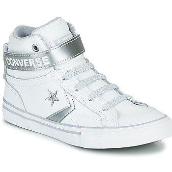 Chaussures Fille Baskets montantes Converse PRO BLAZE STRAP METALLIC LEATHER HI Blanc