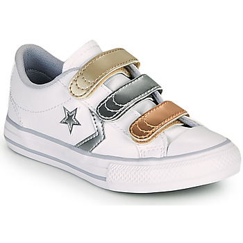 Chaussures Fille Baskets basses Converse STAR PLAYER 3V METALLIC LEATHER OX Blanc