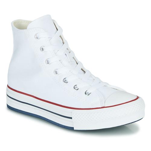 Chaussures Fille Baskets montantes Converse CHUCK TAYLOR ALL STAR EVA LIFT CANVAS COLOR HI Blanc