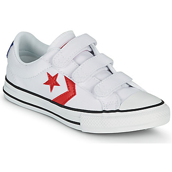Chaussures Garçon Baskets basses Converse STAR PLAYER 3V VARSITY CANVAS OX Blanc / Rouge