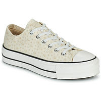 Chaussures Femme Baskets basses Converse CHUCK TAYLOR ALL STAR LIFT CANVAS BRODERIE OX Blanc