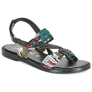 Chaussures Femme Sandales et Nu-pieds Kaporal EVALOU Noir / Multicolore