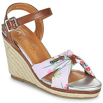 Chaussures Femme Sandales et Nu-pieds Kaporal MAKITA Marron / Blanc