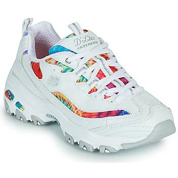 Chaussures Femme Baskets basses Skechers D'LITES SUMMER FIESTA Blanc / Multicolore