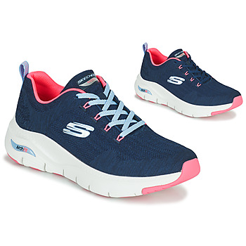 Chaussures Femme Baskets basses Skechers ARCH FIT Marine / Rose