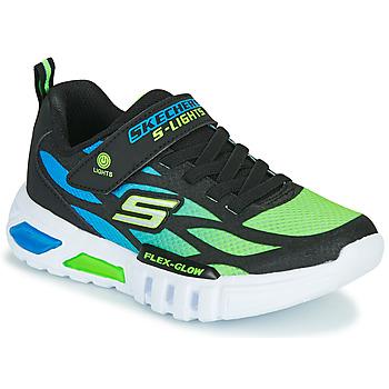Chaussures Garçon Baskets basses Skechers FLEX-GLOW Noir / Bleu / Vert
