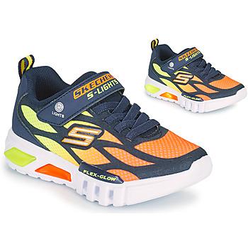Chaussures Garçon Baskets basses Skechers FLEX-GLOW Marine / Orange