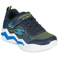 Chaussures Garçon Baskets basses Skechers ERUPTERS IV Marine / Vert