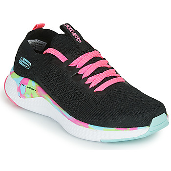 Chaussures Fille Baskets basses Skechers SOLAR FUSE Noir / Rose