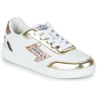 Chaussures Femme Baskets basses Le Temps des Cerises FLASH Blanc / Doré