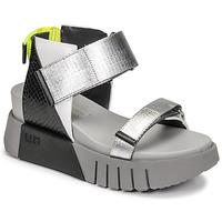 Chaussures Femme Sandales et Nu-pieds United nude DELTA RUN Noir / Argenté