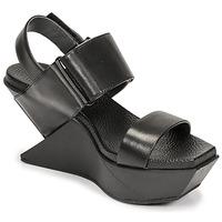 Chaussures Femme Sandales et Nu-pieds United nude DELTA WEDGE Noir