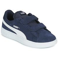 Chaussures Enfant Baskets basses Puma SMASH PS Bleu
