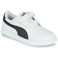 Chaussures Enfant Baskets basses Puma SHUFFLE PS Blanc / Noir