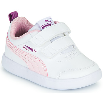 Chaussures Fille Baskets basses Puma COURTFLEX INF Blanc / Rose
