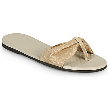 Chaussures Femme Tongs Havaianas YOU ST TROPEZ SHINE Beige