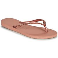 Chaussures Femme Tongs Havaianas SLIM GLITTER II Rose