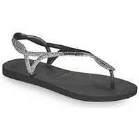 Chaussures Femme Tongs Havaianas LUNA PREMIUM II Noir / Gris