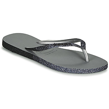 Chaussures Femme Tongs Havaianas SLIM SPARKLE II Gris