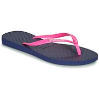 Chaussures Femme Tongs Havaianas SLIM LOGO Marine