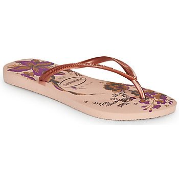 Chaussures Femme Tongs Havaianas SLIM ORGANIC Rose