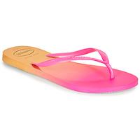 Chaussures Femme Tongs Havaianas SLIM GRADIENT Rose / Jaune
