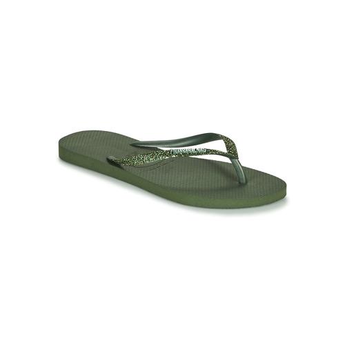 Chaussures Femme Tongs Havaianas SLIM GLITTER II Vert