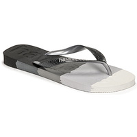 Chaussures Tongs Havaianas TOP LOGOMANIA MULTICOLOR Noir