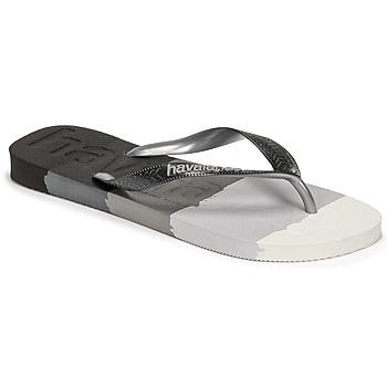 Chaussures Tongs Havaianas TOP LOGOMANIA MULTICOLOR Noir