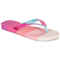 Chaussures Femme Tongs Havaianas TOP LOGOMANIA MULTICOLOR Rose