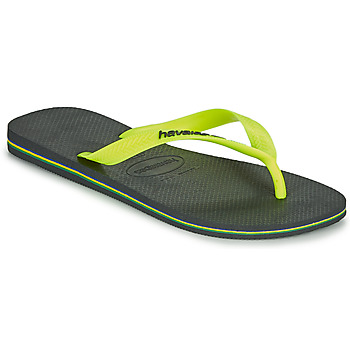 Chaussures Homme Tongs Havaianas BRASIL LOGO Gris