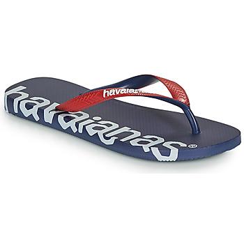 Chaussures Tongs Havaianas TOP LOGOMANIA HIGHTECH Bleu