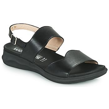 Chaussures Femme Sandales et Nu-pieds Wonders PER Noir