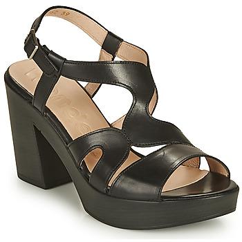 Chaussures Femme Sandales et Nu-pieds Wonders PAROTI Noir