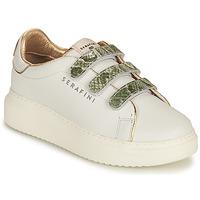 Chaussures Femme Baskets basses Serafini CONNORS Blanc / Doré / Vert