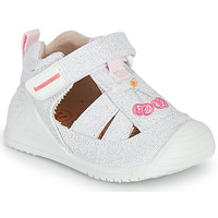 Chaussures Fille Sandales et Nu-pieds Biomecanics 212213 Argenté / Blanc