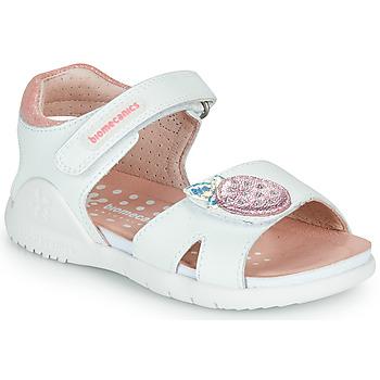 Chaussures Fille Sandales et Nu-pieds Biomecanics 212163 Blanc / Rose
