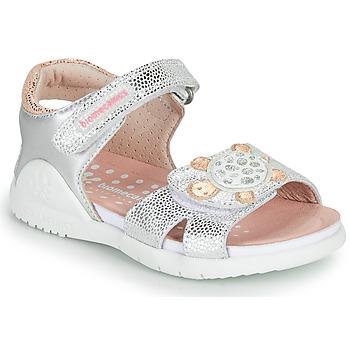 Chaussures Fille Sandales et Nu-pieds Biomecanics 212172 Argenté