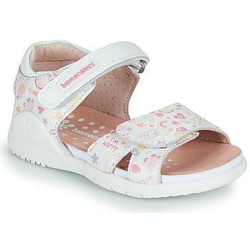 Chaussures Fille Sandales et Nu-pieds Biomecanics 212165 Blanc / Multico
