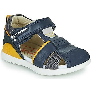 Chaussures Garçon Sandales et Nu-pieds Biomecanics 212187 Marine / Jaune