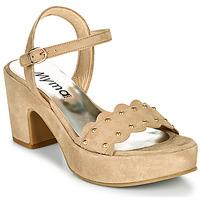 Chaussures Femme Sandales et Nu-pieds Myma POULIDOU Taupe
