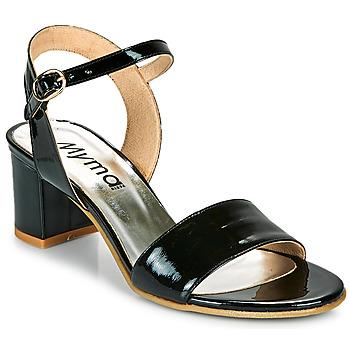 Chaussures Femme Sandales et Nu-pieds Myma POLIDAME Noir