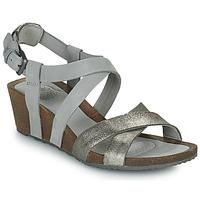 Chaussures Femme Sandales et Nu-pieds Teva MAHONIA WEDGE CROSS STRAP ML Gris / Métal