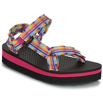 Chaussures Fille Sandales et Nu-pieds Teva C MIDFORM FRAY Rose / Multicolore