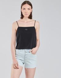 Vêtements Femme Tops / Blouses Calvin Klein Jeans MONOGRAM CAMI TOP Noir